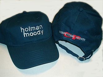 Tan Blue with the classic Holman   Moody logo on front. Both hats have the  embroidered Competition Proven logo on the back. af745c155d95